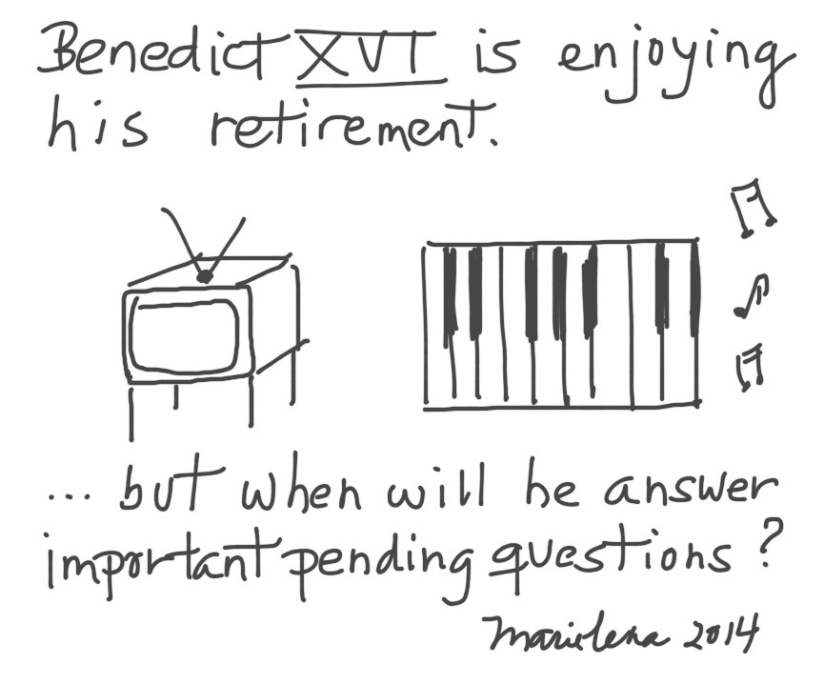Benedict XVI is enjoying his retirement…