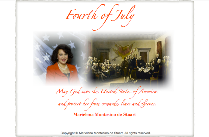 HAPPY FOURTH OF JULY 2014! - Copyright © Marielena Montesino de Stuart. All rights reserved.