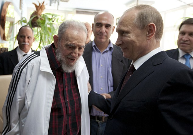Vladimir Putin and Fidel Castro - Havana - July 11, 2014