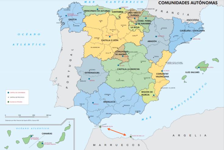 Spain Ceuta And Melilla Ceuta And Melilla Indicated