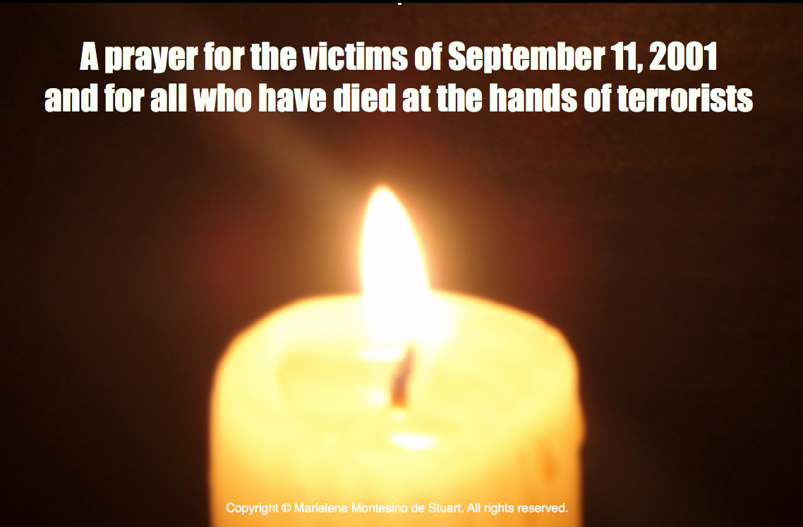 A prayer on September 11, 2014 | © Marielena Montesino de Stuart. All rights reserved.