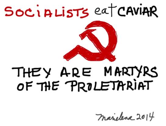 SOCIALISTS EAT CAVIAR: Oh, oui, je me souviens de cesplaisirs…