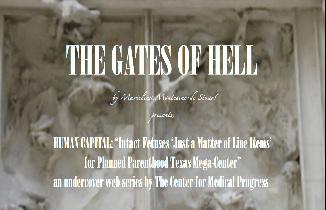 "THE GATES OF HELL: ""Intact Fetuses 'Just a Matter of Line Items' for Planned Parenthood Texas Mega-Center"""