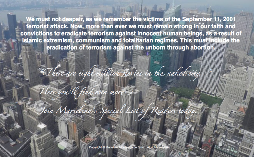 SEPTEMBER 11 - Copyright © Marielena Montesino de Stuart. All rights reserved. Marielena Stuart, Marielena Montesino.