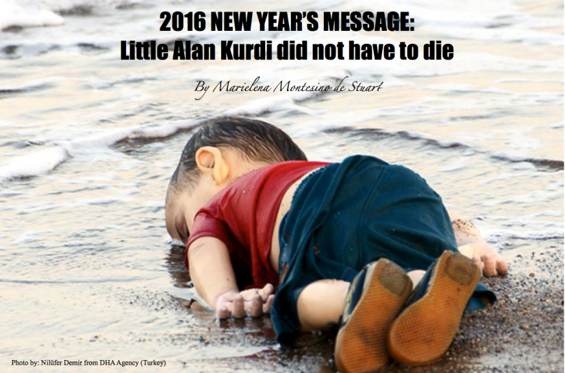 2016 NEW YEAR'S MESSAGE: Little Alan Kurdi did not have todie