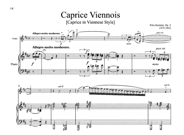 Music for a Sunday Afternoon: Caprice Viennois