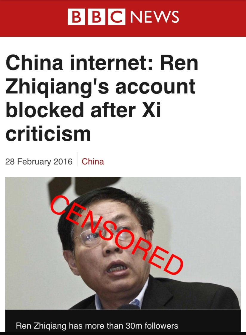 Censored in China