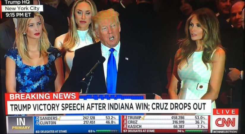 Trump Wins Indiana Primary, declared GOP's Presumptive Nominee by RNC Chairman Reince Priebus, Ted Cruz drops out