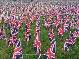 British and American Flags - Copyright © Marielena Montesino de Stuart. All rights reserved