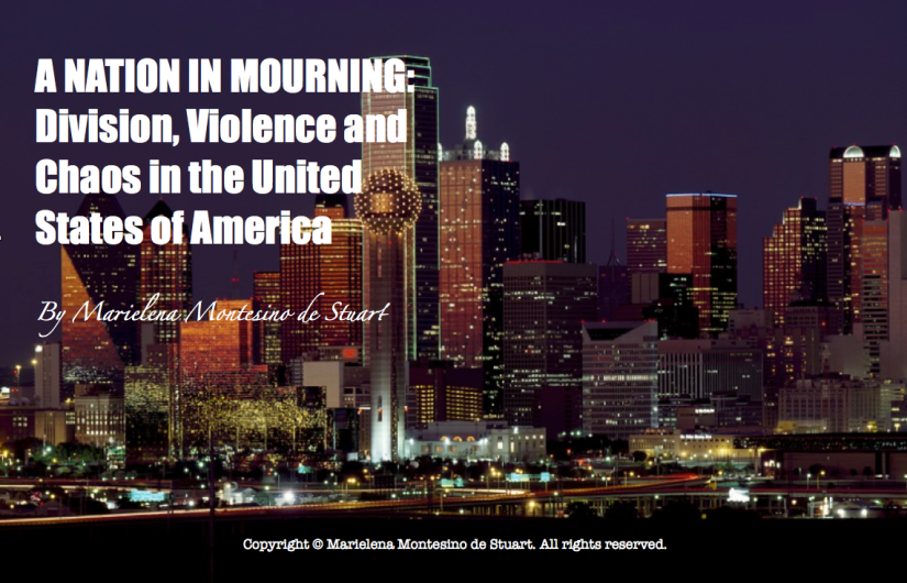 A NATION IN MOURNING: Division, Violence and Chaos in the United States of America