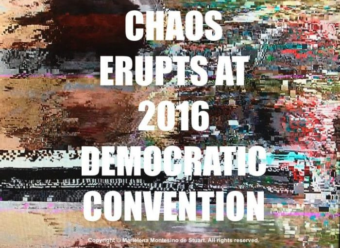 Total Chaos at 2016 Democratic Convention, people protest when they hear the name Hillary Clinton