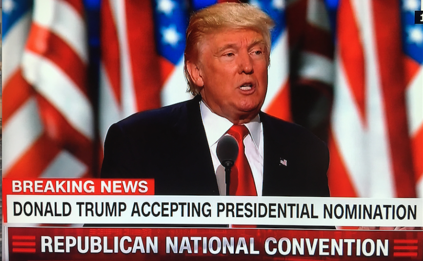 REPUBLICAN CONVENTION: Donald J. Trump addresses our nation and theworld