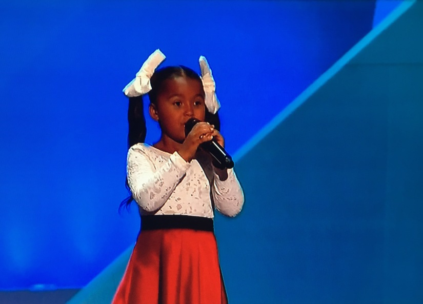 REPUBLICAN CONVENTION: A beautiful little girl named Heavenly Joy sang like anangel