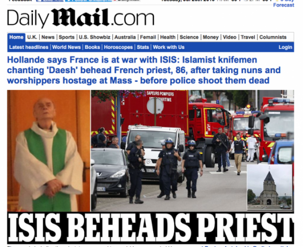 BREAKING: Catholic Priest Beheaded by ISIS in France, nuns and worshippers heldhostage