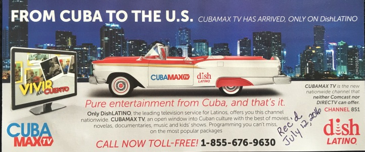Shameful CubaMaxTV Ad
