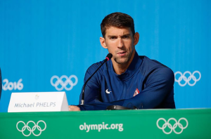 Michael Phelps - Marielena Montesino de Stuart