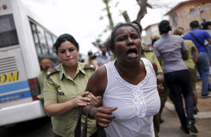 This is how blacks are treated in Cuba by people who support Hillary Clinton's socialist agenda.
