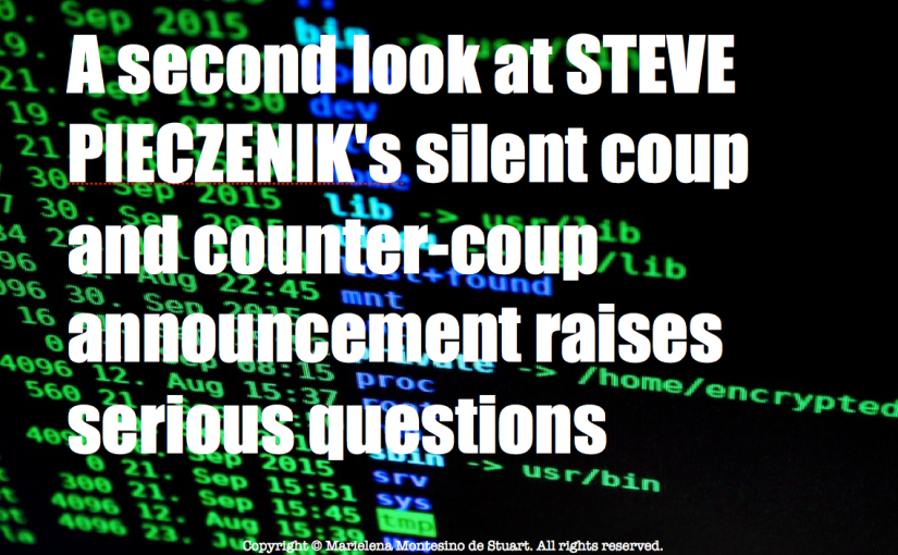 A second look at Steve Pieczenik's silent coup and counter-coup announcement raises serious questions