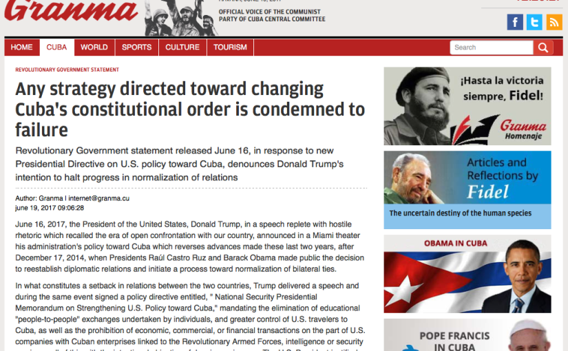 URGENT MESSAGE FOR PRESIDENT TRUMP: Please Shut Down Espionage Center in Washington DC Known as CubanEmbassy